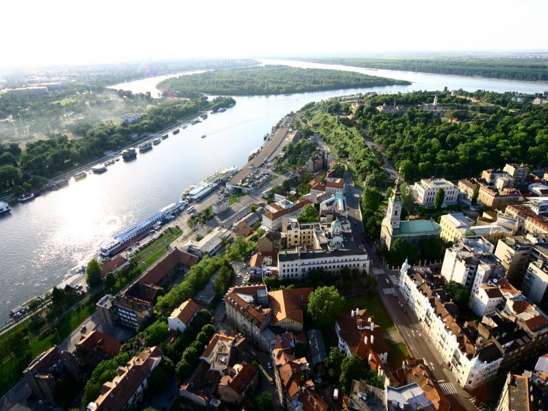 Разходка с лодка по река Сава и Дунав