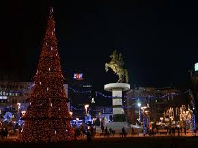 Нова година в Скопие 2019