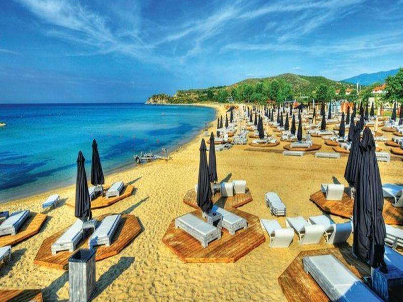 На плаж в Гърция - Амолофи