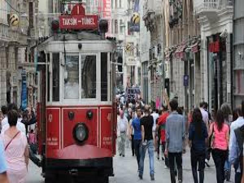 Пешеходна екскурзия новия център на Истанбул