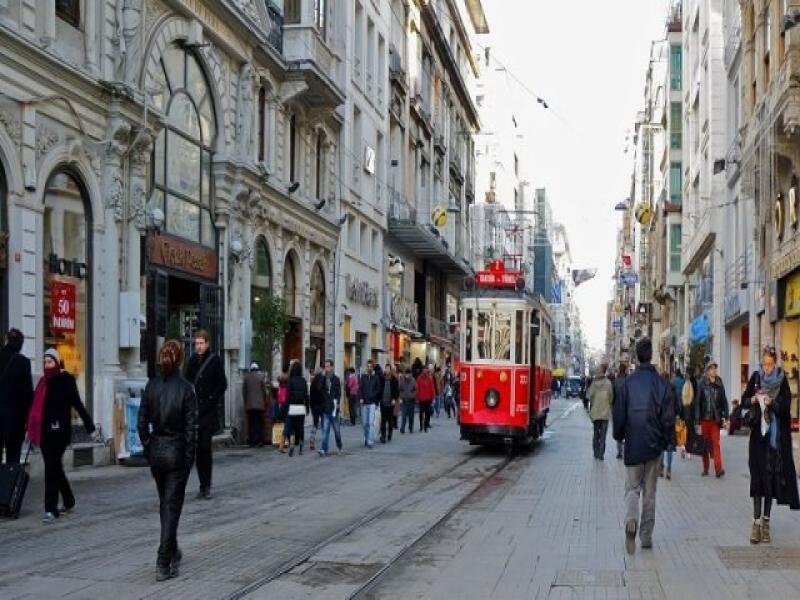 Пешеходна екскурзия на новия център на Истанбул Таксим