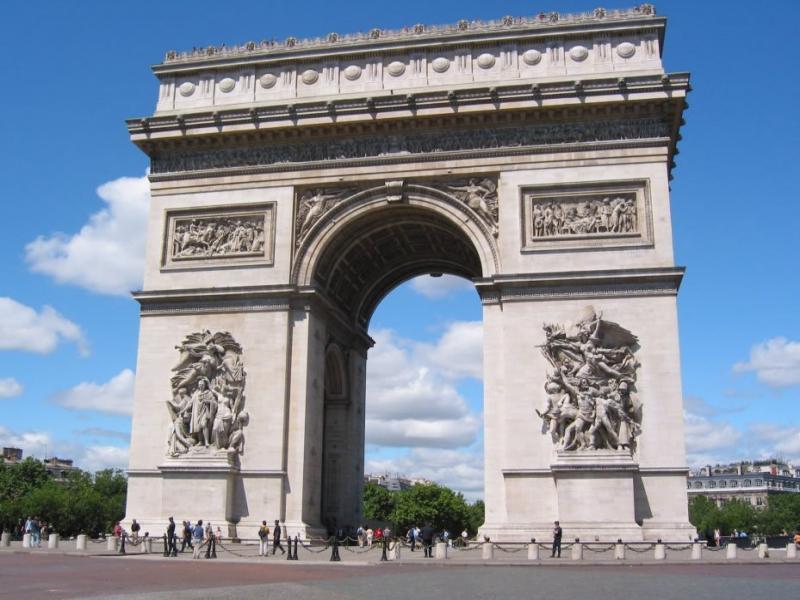 Полудневна екскурзия до Триумфалната арка, Шанз Елизе, площадите Конкорд и Вандом