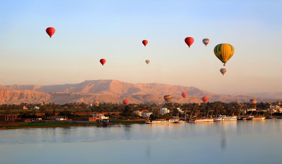 Разходка с балон за западния бряг на Нил
