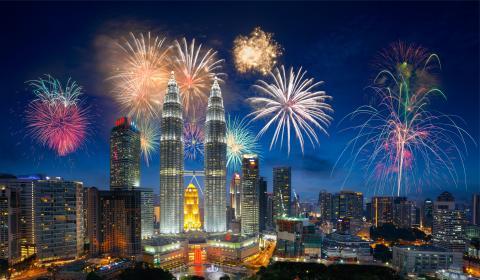 Сингапур и Малайзия и плаж на о-в Пенанг