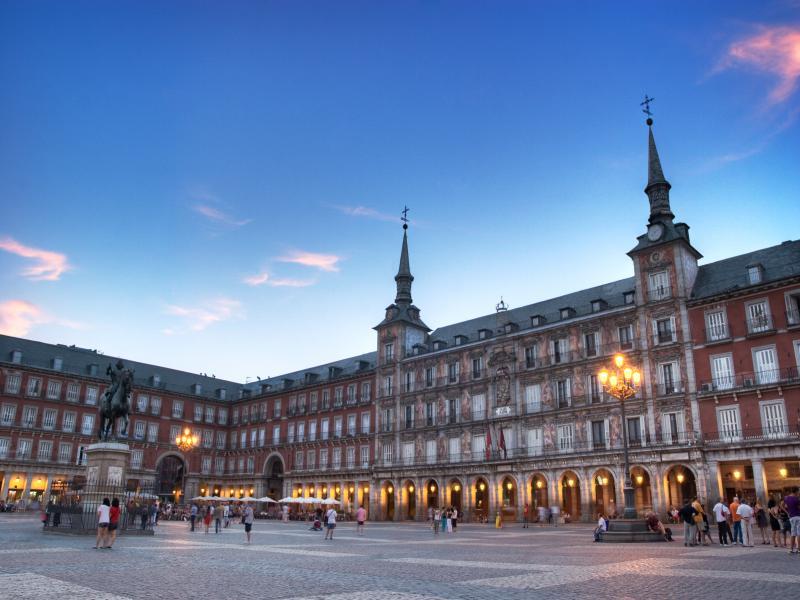 Посещение на Кралския дворец в Мадрид