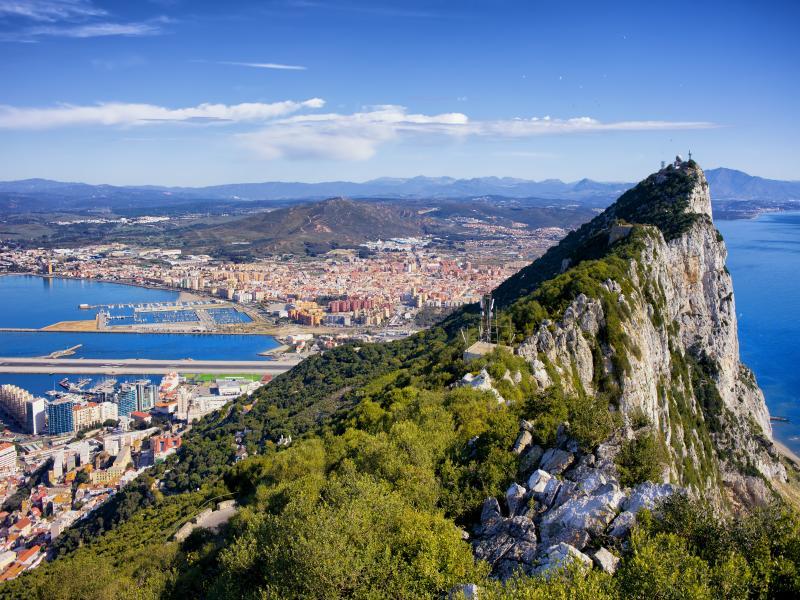 Разглеждане на Гибралтар - панорамен тур