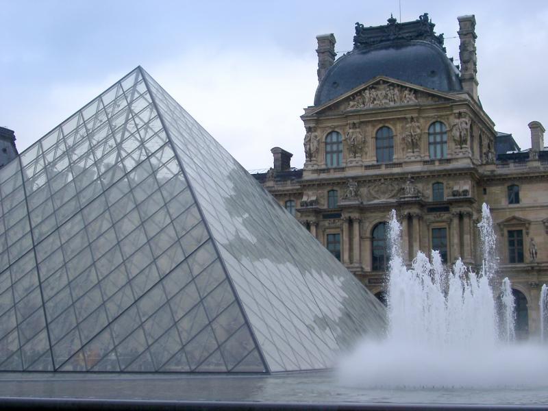 Разглеждане на музей Лувър